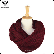 Lady Pure Color Soft Acrylic Knit Tube Scarf
