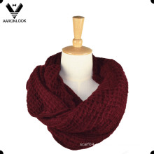 Lady Pure Color Soft Acrílico Knit Tube Cachecol