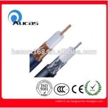 China cable de cable de cobre RG6 cable coaxial de la fábrica CCTV CATV MATV