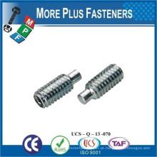 Fabricado em Taiwan DIN 915 ISO 4028 ANSI B18 3 6M Hexagon Socket Set Screw with Dog Point
