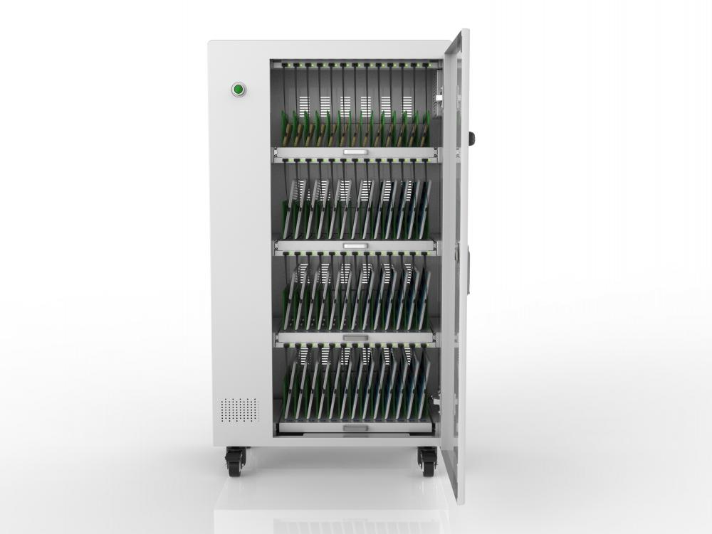 Casters with breaker tablets charging cart