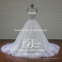 2017 XFM015 элегантный бальное платье свадебное платье со съемными куртка кружева свадебные платья