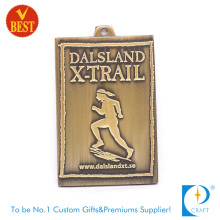 High Quality Customized Brass 3D Marathon Medal with Pressure Stamping