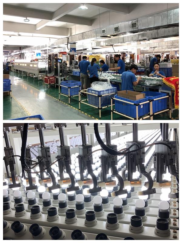 bulb production line
