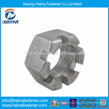 In Stock DIN935 Stainless Steel Castle Nuts with Coarse Pitch Thread
