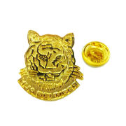 Tiger Head Personalized Lapel Pins With Stainless Stee Gold Finish For Promotion & Gifts