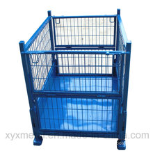 Folding Heavy Duty Stacked Storage Mesh Stillage Cage Wire Container