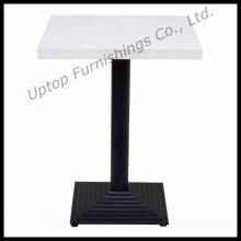 Blanco hierro fundido de metal basado en mesa de restaurante de café (SP-RT109)