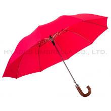 Parapluie 2 Poignée en Bois Coloré Vin