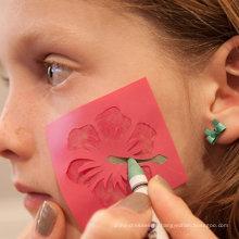 Palhaço de carnaval colorido à base de água crianças rosto pintura vara