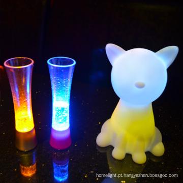 mesa de cabeceira do animal em forma de lâmpada com luz led USB led luz noturna de lâmpadas para crianças
