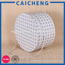 Round paperboard packaging box for flowers