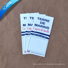 Etiqueta de papel de design de preço de fábrica / etiquetas de impressão