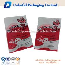 bolsa de embalaje cosmética laminada diseño personalizado máscara facial de aluminio máscara