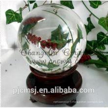belle boule de cristal personnalisée pour cadeau d'affaires, souvenir