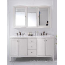 Gabinete de baño moderno reflejado gabinete principal de madera uno (JN-8819717D)