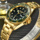 Golden steel men famous branded custom watch