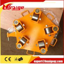 360 degree rotating wheels turnable transport trolley 4Ton
