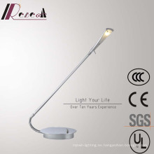 Lámpara de mesa LED de lectura de cabecera rotativa de cromo decorativa del hotel
