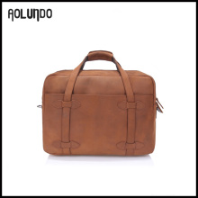 2016 New fashion top crazy horse leather laptop bags for men