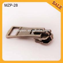 MZP28 resbalador al por mayor de la cremallera del metal y tirador favorable de la cremallera del metal favorable al por menor