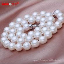 Collier de perles d'eau douce pure en Chine de 9-10mm AA Perfect Round