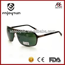 Óculos de sol de metal prateado verde escuro atacado Alibaba