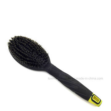 Oval Cushion Brush Boar Bristle with PA66 Nylon Good for Massage
