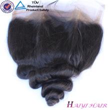 Cheveux brésiliens brésiliens de dentelle de style droit de cheveux de Vierge 360 avec des paquets