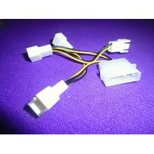 D Type IDE Molex PC CPU Fan Power Cable