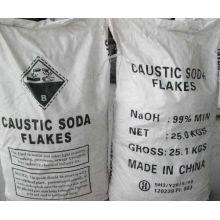 Soda cáustica química industrial (flocos, pérola, sólido)