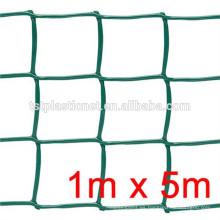 malla plana de plástico / malla plástica hexagonal de los PP / HDPE del color verde para el precio de la agricultura