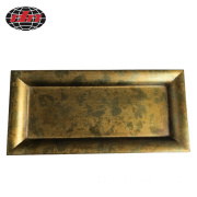 Rectangle Antique Gold Plastic Serving Tray