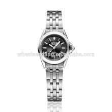Água prova mulheres quartzo valentine volta relógios de aço inoxidável