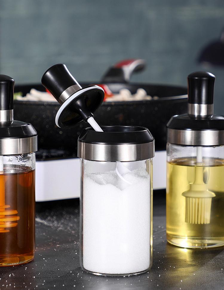 Clear Seasoning Salt Bottle