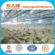 Venta caliente automático de aves de granja equipo para casa de pollo para asar