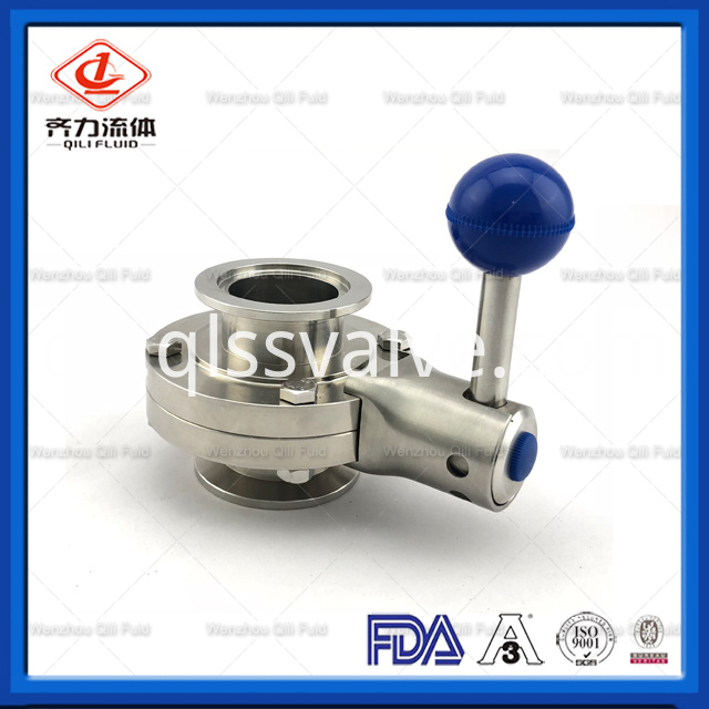 Sanitary Stainless Steel Butterfly Valve 5