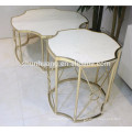 Fashion small round irregular stainless steel coffee table small round side table
