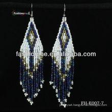 (FH-E007-7) earring ,handmade braided earring