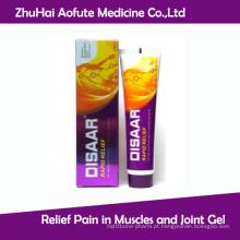 Dor de alívio em músculos e gel articular