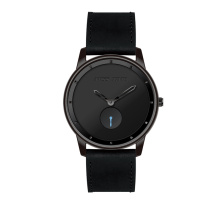 soft genuine leather strap black business men watch