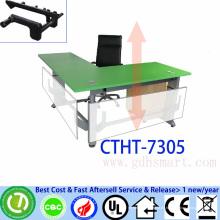 Büromöbel Teak Tisch Konferenz Rednerpult Handkurbel höhenverstellbarer Tisch