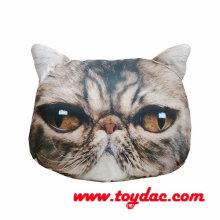 Digital Printed Stuffed Artificial Cat Head Cushion
