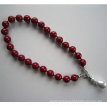 Natural ronda collar de perlas de Shell