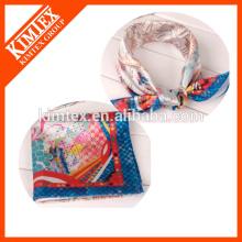 Divertido 50X50 pañuelos de colores pañuelos