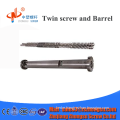 hot selling conical twin screw and barrel for pipe/profile directly from manufactory