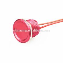 Pulsador momentáneo anti vándalo anti de alta calidad de 22MM de metal verde rojo, IP68 impermeable Enclavamiento en el interruptor piezoeléctrico CE TUV ROHS