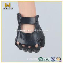 fingerless summer genuine leather driving gloves for women