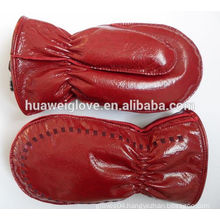 Ladies fashion dresses with pictures red color boxing leather gloves mittens