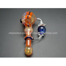 Wholesale Creative Design Rotating Ball Colored Glass Bubbler Glass Pipe Hand Pipe